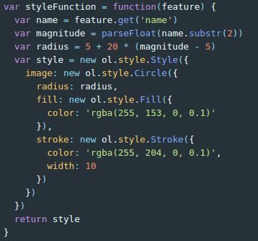 Estilos en OpenLayers: Función de estilo