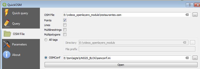 Descarga de datos OSM: QGIS y QuickOSM - UNIGIS