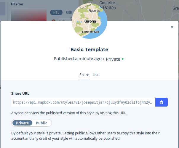 Shar url cartografía Mapbox