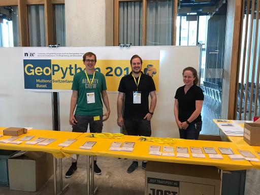 El help-desk de la GeoPython 2019