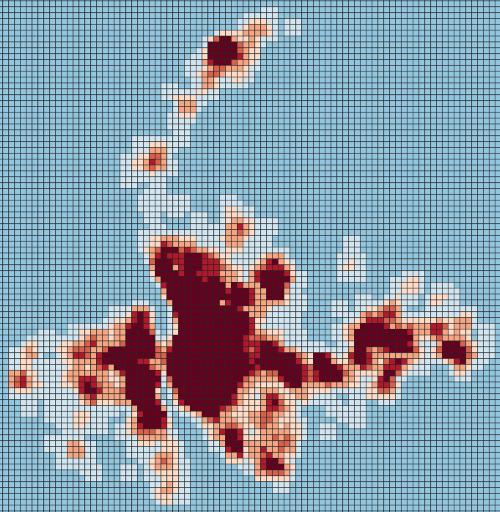 Análisis para la identificación de puntos calientes o hotspots con Visualist de QGIS