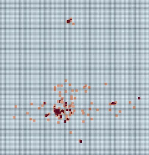 Detección de hotspots, relacionados con robos a las personas, mediante Visualist.