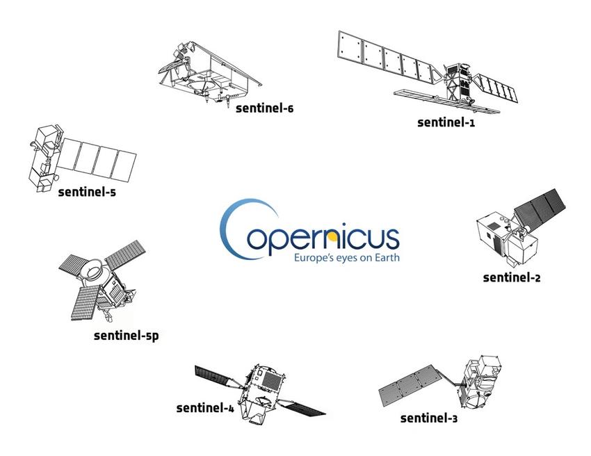 Familia satélites Sentinel del porgrama Copernicus de observación de la Tierra