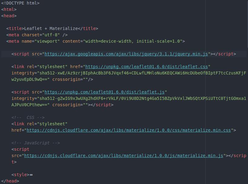 Inclusión de las API