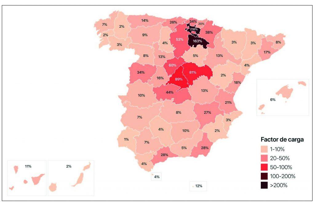 Sobrecarga sistema sanitario en España. COVID-19