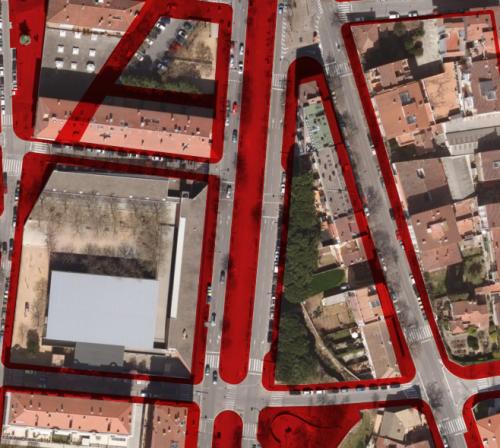 Aceras en la ciudad de Girona