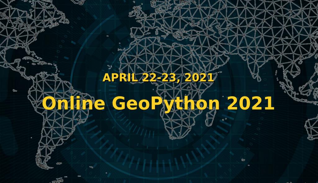 Portada del sitio web de GeoPython 2021.