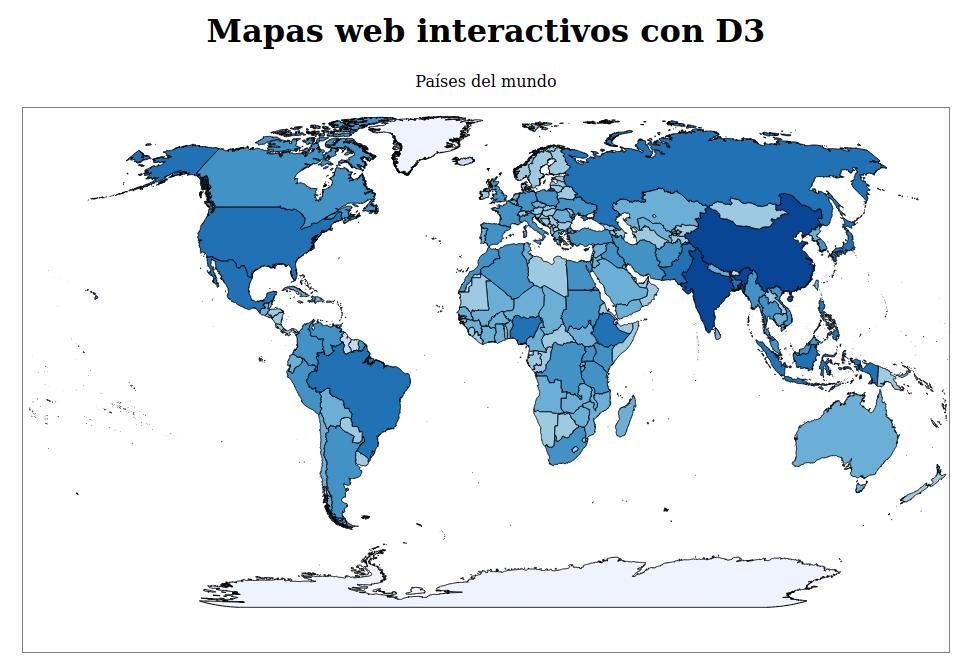 Tematización del mapa web interactivo con d3